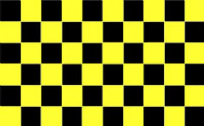 CHECKERED BLACK & YELLOW - 5 X 3 FLAG